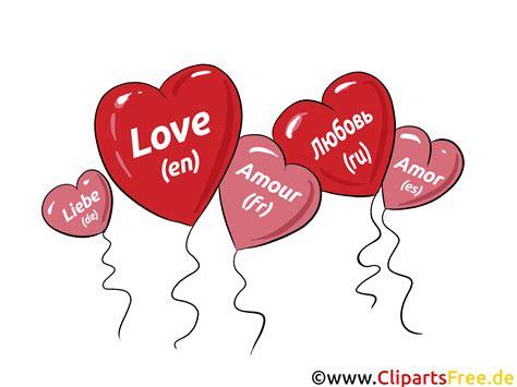 herzen als luftballons liebe clipart bild grafik comic