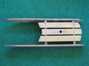 vintage small wooden child s sled quot playmate quot from problem1