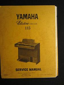 Yamaha Electone 405 Organ Technical Service Repair Manual