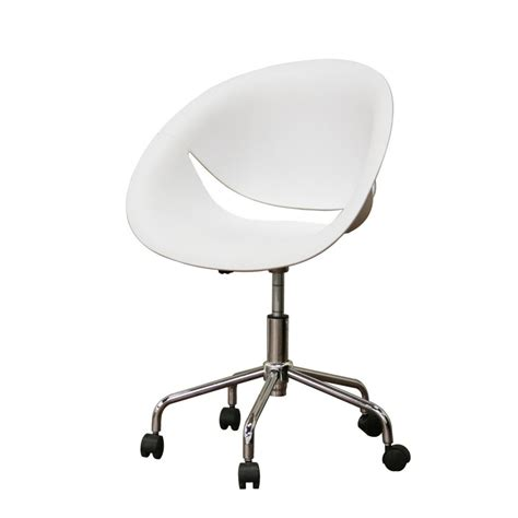 white desk chair with wheels egg shaped white swivel desk chair with caster wheels as