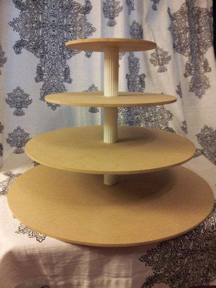 diy large round 4 tier cupcake stand cake stand tower