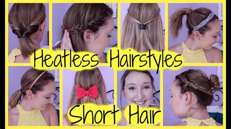 8 Heatless Hairstyles For Short Hair (Easy & Quick