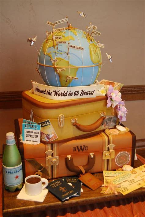 17 Best Images About Amazing Cakes Travel Themed On