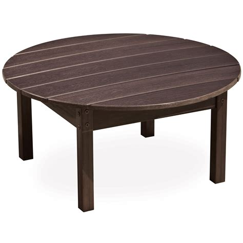 round plastic coffee table plastic coffee table polywood newport 22 in x 36 in