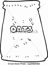 Bag Clipart Oats Cartoon Oat Vector Drawings Clip Drawing Freehand Drawn Clipground sketch template