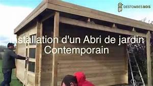 Destombes bois #2 montage d'un abri contemporain YouTube