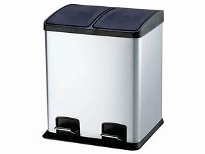Poubelle De Tri Cuisine : poubelle de cuisine 24 l select 24 coloris argent vente ~ Dailycaller-alerts.com Idées de Décoration