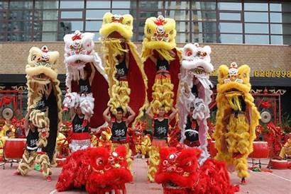 Lion Dance Chinese Festival Dragon Dances Spring