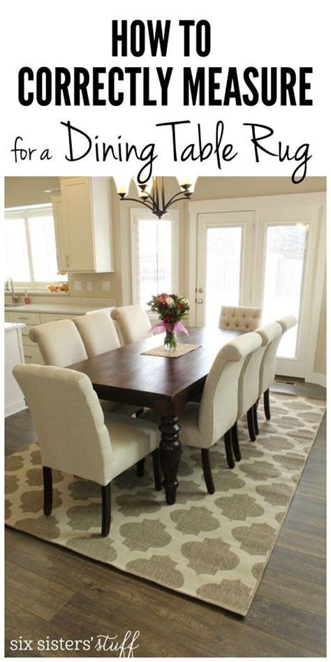 correctly measure   dining room rug dining