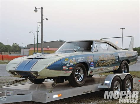 Vintage 69 Daytona Drag Race Car& Sox Martin Superbird