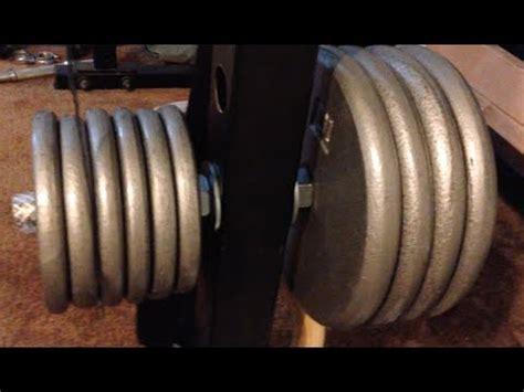 diy weight plate holders  power racks youtube