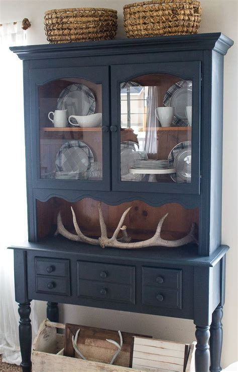 Painted Kitchen Furniture by Farmhouse Style And Painted Furniture Navy Blue Hutch And