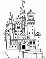 Castle Bouncy Drawing Cartoon Draw Coloring Getdrawings sketch template
