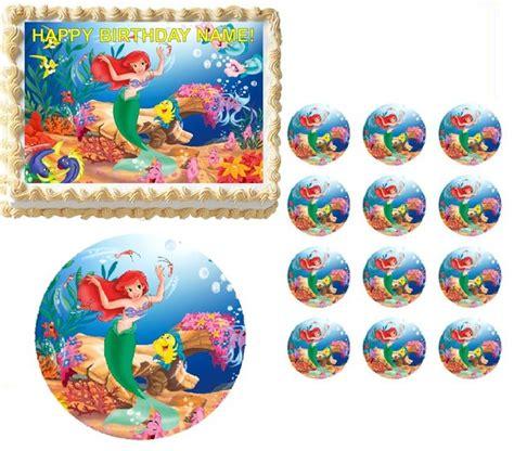 mermaid ariel edible cake topper image frosting