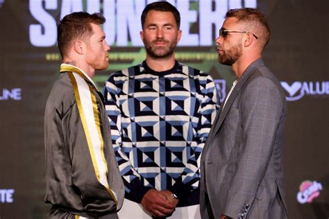 Check spelling or type a new query. Photos: Canelo Alvarez, Billy Joe Saunders - Tense Face To Face at Presser - Boxing News