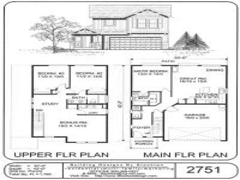 Small Two Story House Plans Two-story Small House Kits
