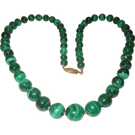 360 best shop vintage jewelry vintage malachite bead necklace from chippewalakeantiques