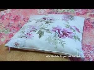 Kissenhülle Mit Reißverschluss Nähen : kissenbezug mit rei verschluss in 2 versionen n hen diy youtube ~ Yasmunasinghe.com Haus und Dekorationen