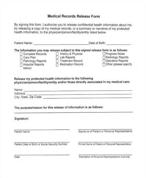 blank medical release form 24 medical release form templates