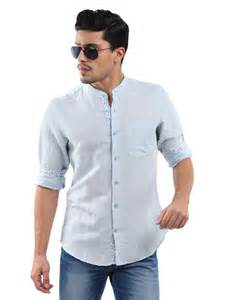 Chinese Mandarin Collar Shirts for Men