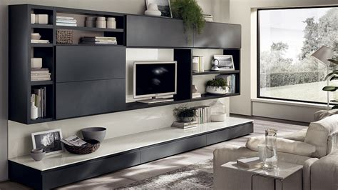 Black Living Room Wall Units by 12 Dynamic Living Room Compositions With Versatile Wall