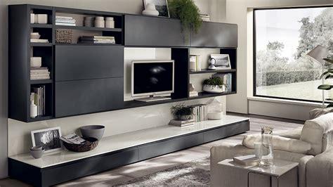 Black Storage Unit Living Room : Living Room Wall Units With Storage
