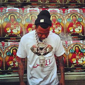 The Game Wearing Diamond Supply Co At The Jesus Piece ...
