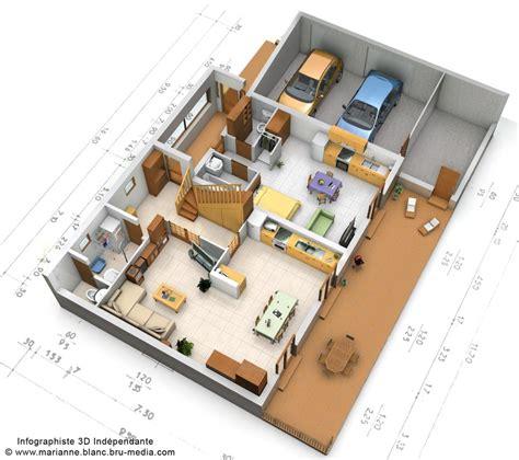 plan 3d maison rdc by meryana on deviantart
