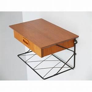 Table De Chevet Suspendue : chevet suspendu string teck la maison retro ~ Teatrodelosmanantiales.com Idées de Décoration