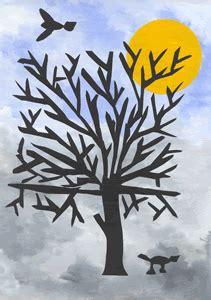 bildnerische erziehung  der volksschule winterbaum scherenschnitt