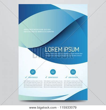 Modern Blue Brochure Design Vector Photo Bigstock Corporate Images Stock Photos Illustrations Bigstock