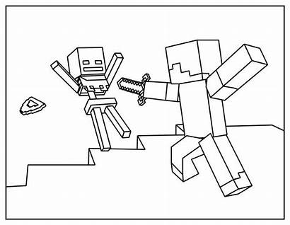 Minecraft Coloring Pages Simple Characters Children Games