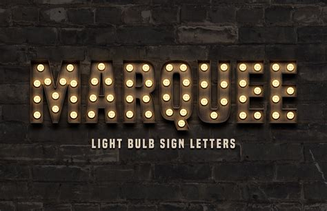marquee light bulb sign letters medialoot