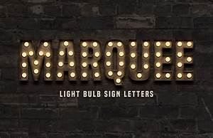 marquee light bulb sign letters medialoot With letters with light bulbs in them
