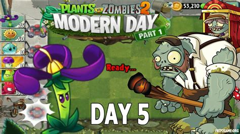 plants vs zombies modern plants vs zombies 2 modern day part 1 day 5 lost city gargantuar come back