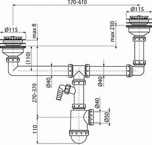 Syphon Anschließen Küche : doppelsp lbecken siphon mit ablauf 115mm sanit r ~ Lizthompson.info Haus und Dekorationen