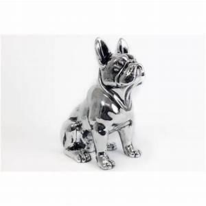Statue Bouledogue Français : deco grande statue de chien bouledogue fran ais argent en c ramique 32 cm achat vente ~ Teatrodelosmanantiales.com Idées de Décoration