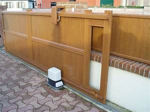 Portail En Bois Pas Cher : portail coulissant bois pas cher portillon en aluminium ~ Melissatoandfro.com Idées de Décoration
