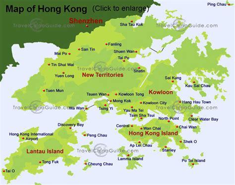 hong kong china map  hong kong china satellite image