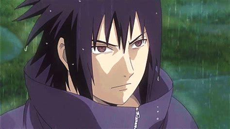Anime, Naruto Shippuden, Uchiha Sasuke, Rain, Gif