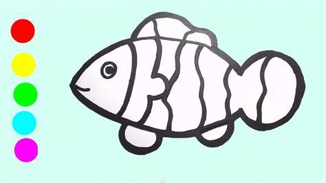 belajar menggambar dan mewarnai ikan badut ii