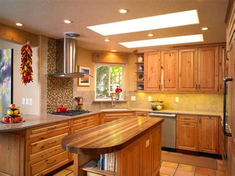 Carmel / Southwest Knotty Cherry Kitchen   Southwestern