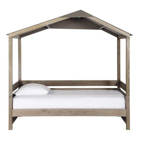 lit cabane enfant    cm en bois forest maisons du monde