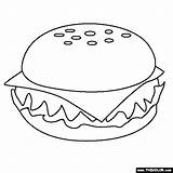 Coloring Cheeseburger Fast Pages Thecolor sketch template