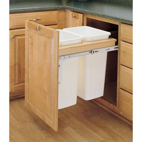 Revashelf Double Pullout Waste Bins For Framed Cabinet