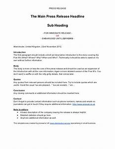 press release template by pressat With conference press release template