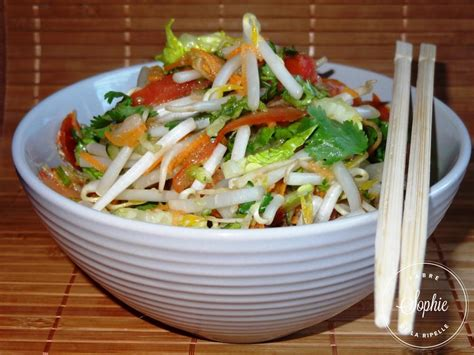 poisson facile à cuisiner salade chinoise la tendresse en cuisine