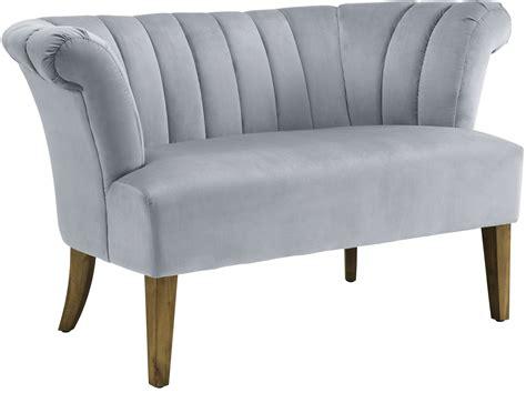 velvet settee iris grey velvet settee from tov coleman furniture