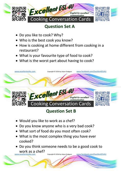 esl cooking conversation