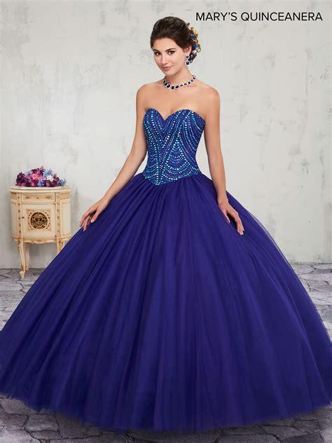 marys quinceanera dresses style mq  cobalt blue